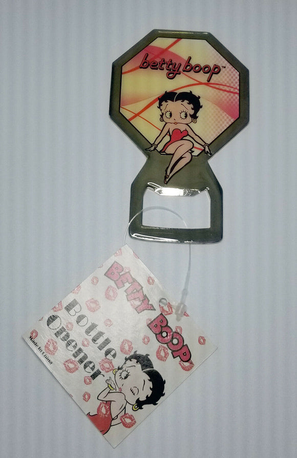 Betty Boop Bottle Opener Octogon Shape Magnetic Retired