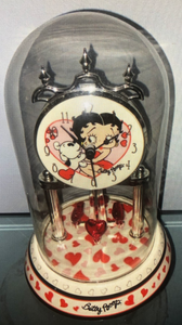 Betty & Pudgy Anniversary Porcelain Clock