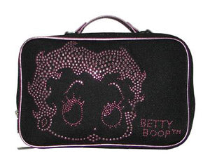 Betty Boop Cosmetic Case Black and Pink
