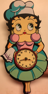 Betty Boop Kitchen Swinging Clock