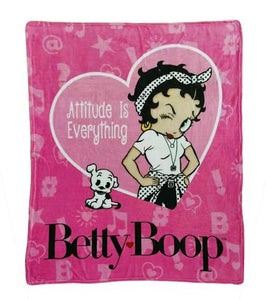 "Betty Boop Throw Blanket ""Attitude"""