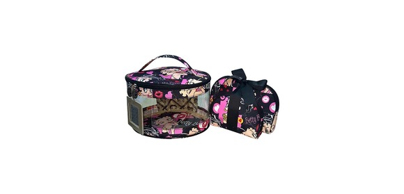 Betty Boop Polyester Cosmetic Set, Betty Biker 3 piece set.