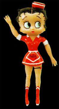 Product Image Betty Boop Diner Bendable Doll