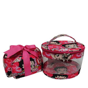 Betty Boop Polyester cosmetic Set, Betty Faces 3 piece set.