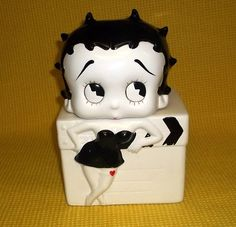 Betty Boop Black and White Cookie Jar