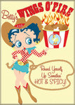 Betty Boop Cowgirl Magnet Wings O'Fire