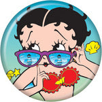 Betty Boop Metal button Sunglasses