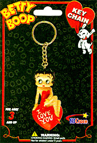 Product Image Betty Boop 3-D Keychain