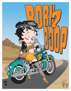 Product Image Betty Boop Motorcycle Sign