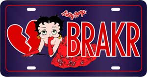 Product Image Betty Boop Heart Breaker License Plate