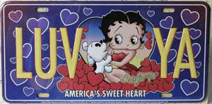 Product Image Betty Boop Love Ya License Plate