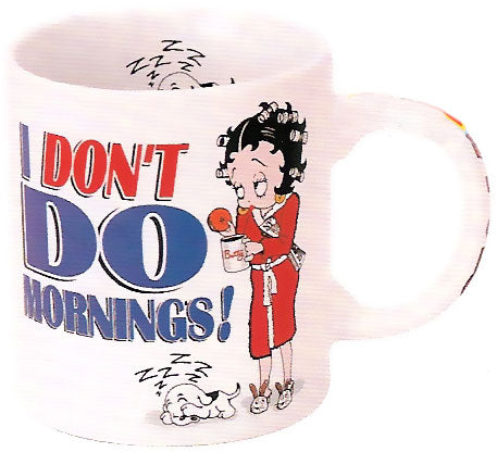 Product Image I Don't Do Mornings Betty Boop Mug