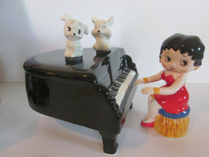 Betty Boop Piano with Dancing Pudgy's (2) Muscial  (Retired)