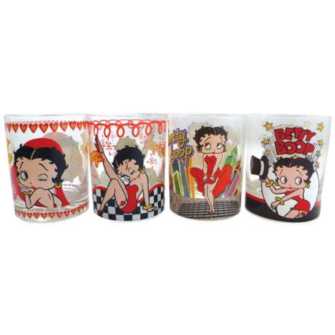 Betty Boop Drinking Glasses, Set Of 4, 12 Oz.