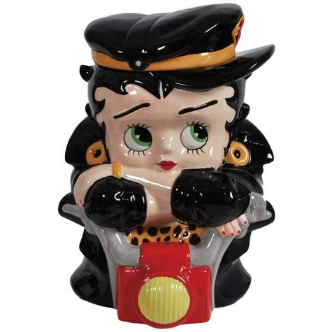 Betty Boop Biker Cookie Jar