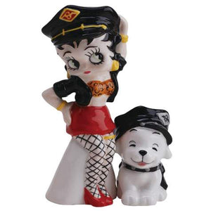 Leather Betty & Pudgy Salt and Pepper Shakers