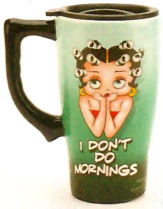 Product Image Betty Boop I Don't Do Mornings Travel Mug