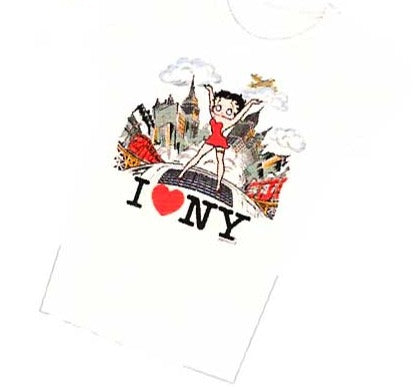 Product Image N.Y. City Sidewalk Betty Boop Baby Doll T-shirt