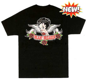 Product Image Heart Breaker Betty Boop Biker Face T-Shirt