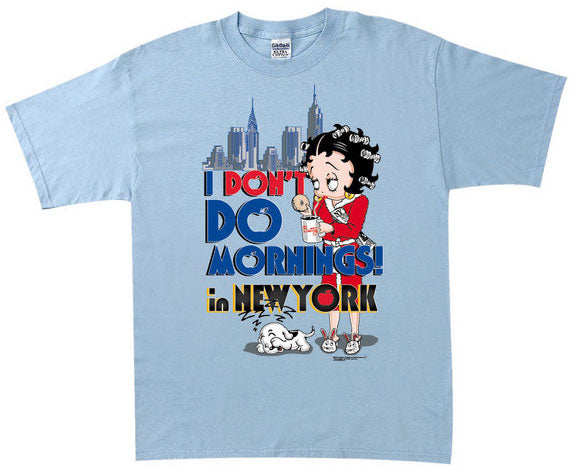 Product Image I Don't Do Mornings in NY Betty Boop T-Shirt