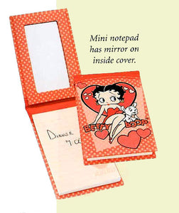 Product Image Betty Boop Mini Notepad W/Mirror