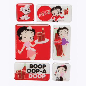 Betty Boop Coke Magnets Set of 6 Retired