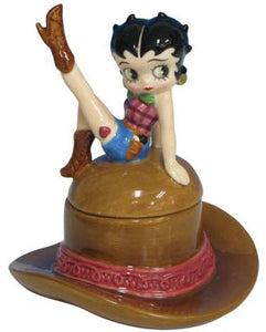 Product Image Betty Boop Cowgirl Trinket Box