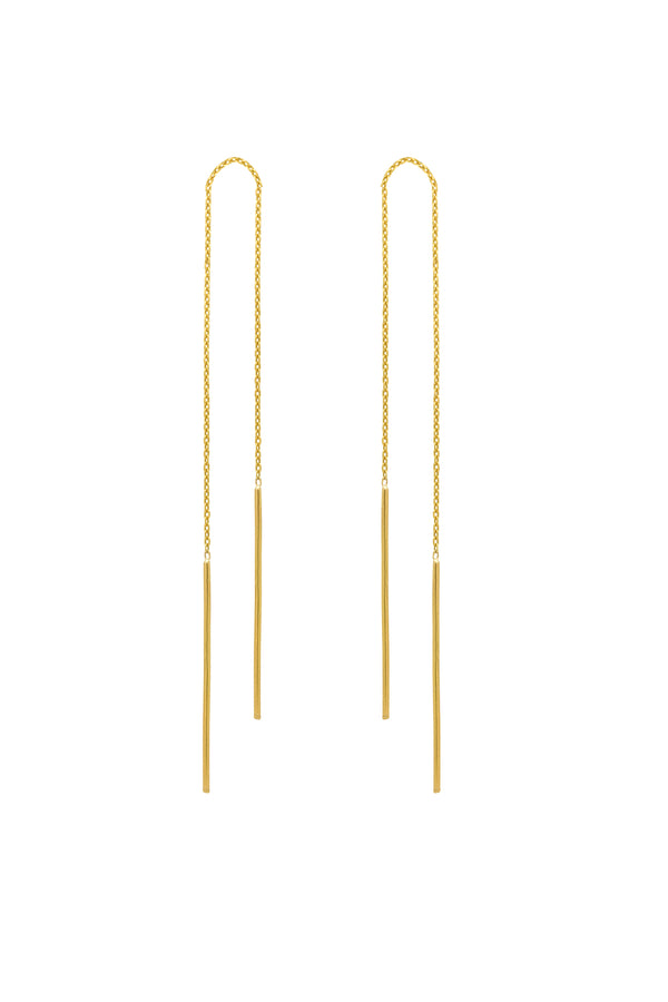 Halo Ear Threaders (18K Gold) - Maison Orient