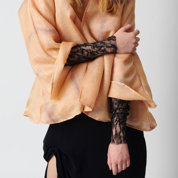 Veins in Vain Embroidered Sleeves - Maison Orient
