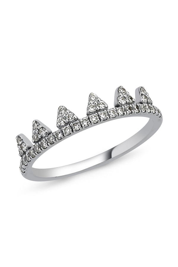 CROWN RING WITH WHITE DIAMONDS