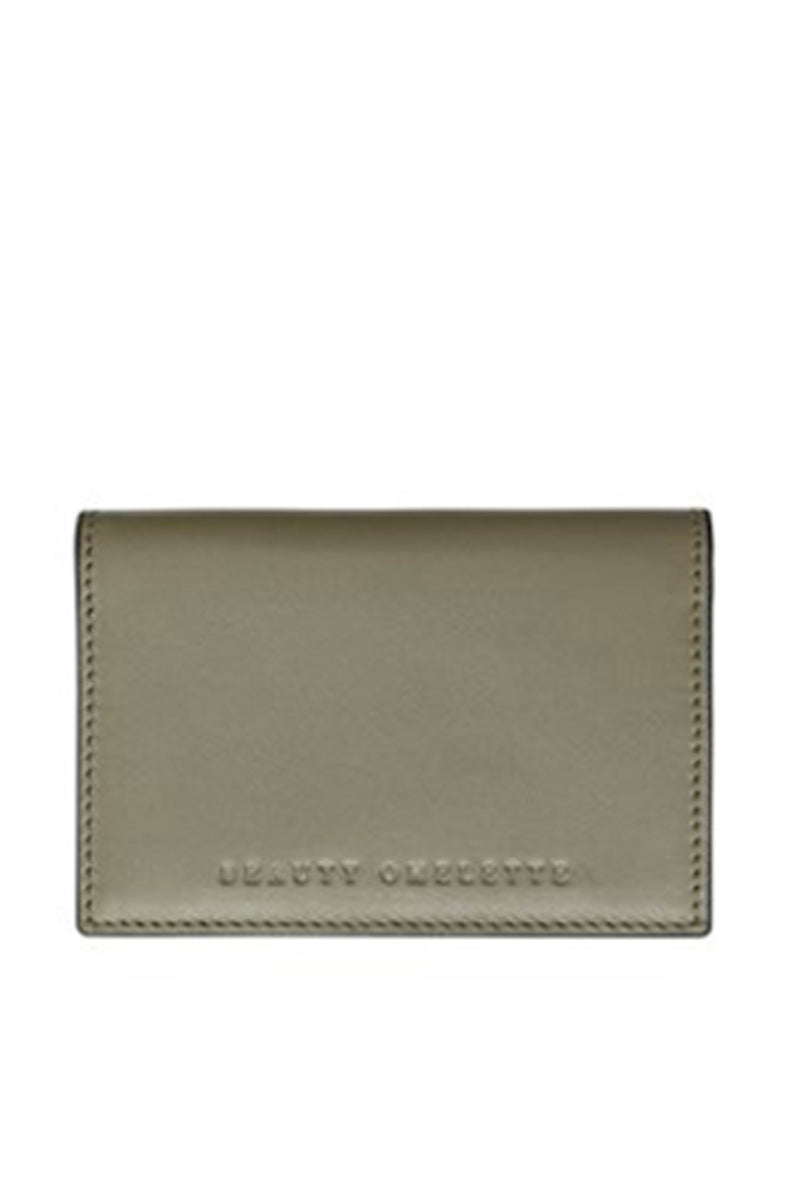Khaki Card Holder with Cover