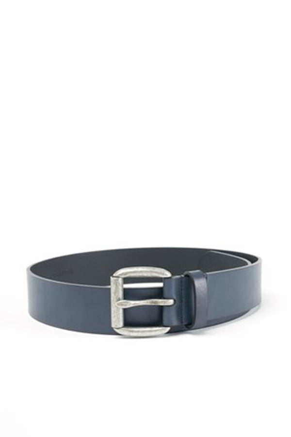 Navy Blue  Classic Leather Belt