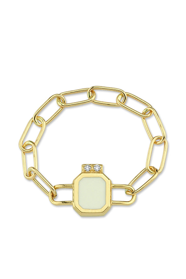 Chain Ring With Enamel - Maison Orient