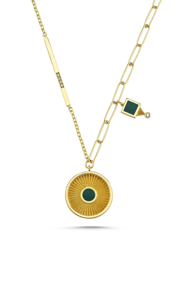 Circle Medallion Necklace - Maison Orient
