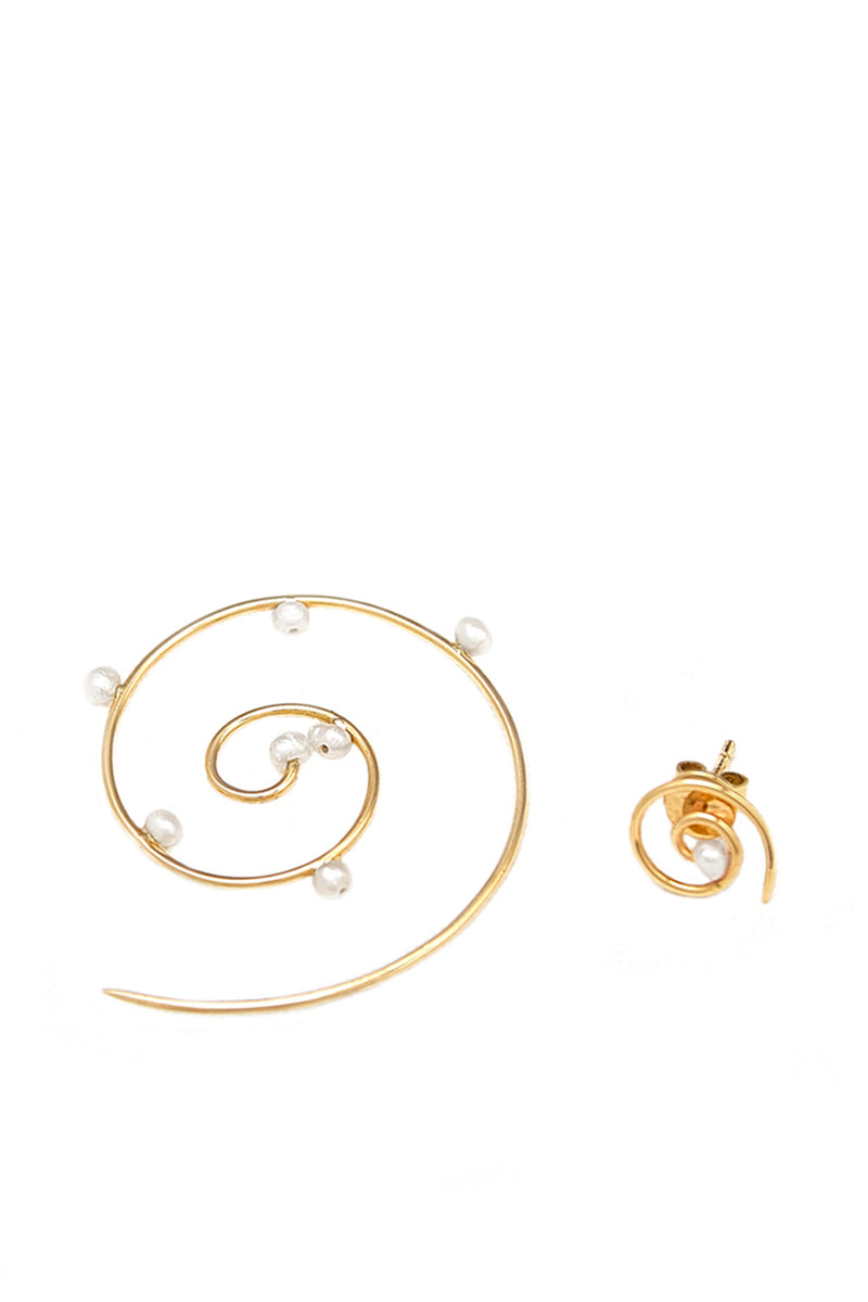 Dew On Tendril Spirals Earrings - Maison Orient