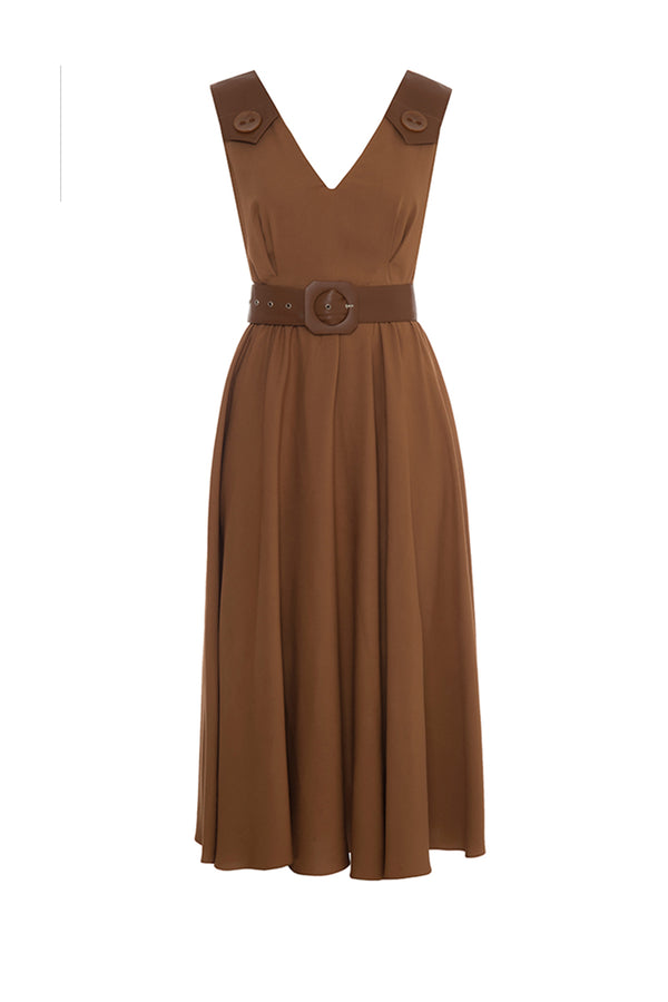 Dress With Belt - Maison Orient