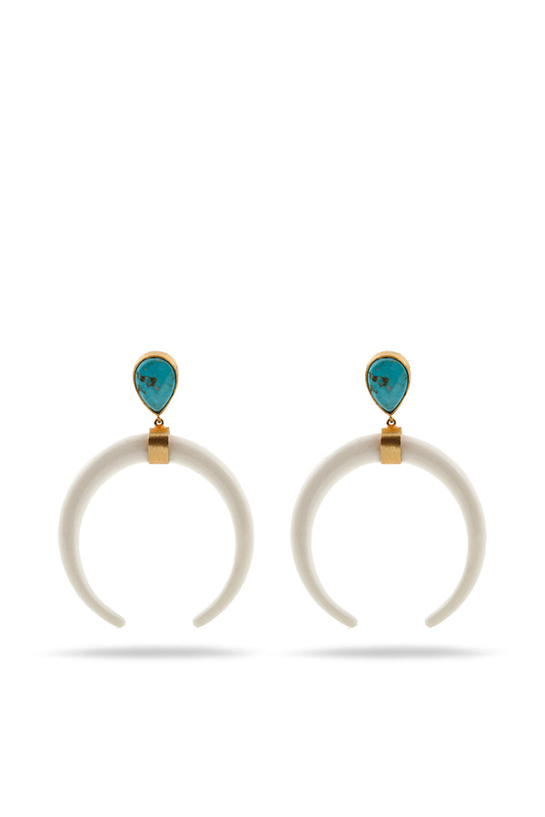 Turquoise and Resine earrings
