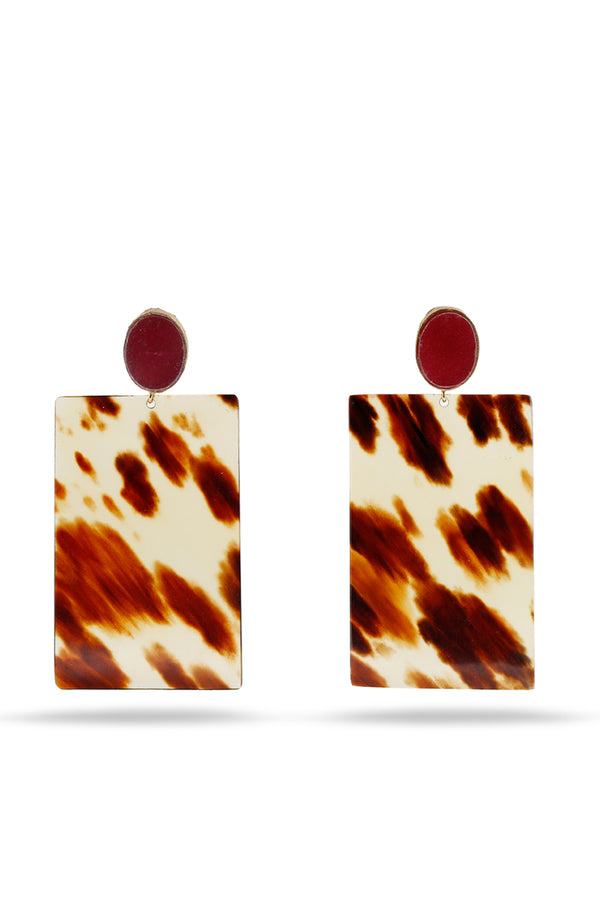 Red Agate and Tortoiseshell earrings