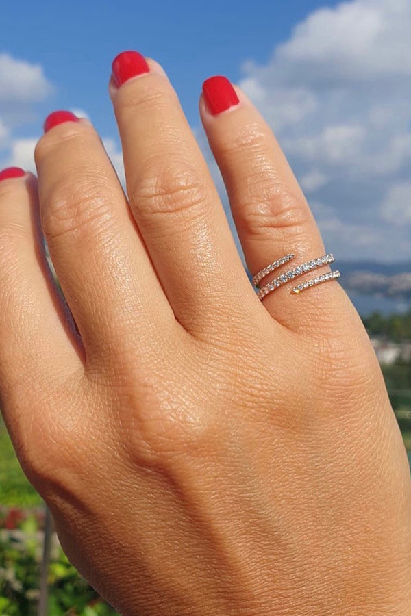 ECCE SPIRAL DIAMOND RING