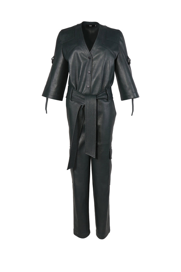 ERABLE LEATHER JUMPSUIT