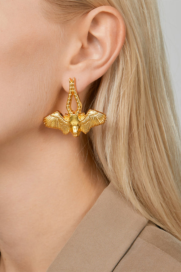 Winged Bull Earrings