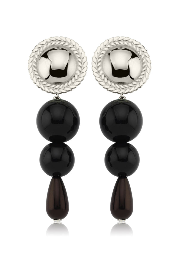 FULL SPIGA BLACK EARRINGS - Maison Orient