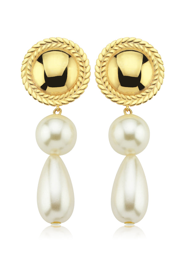 FULL SPIGA PEARL EARRINGS - Maison Orient