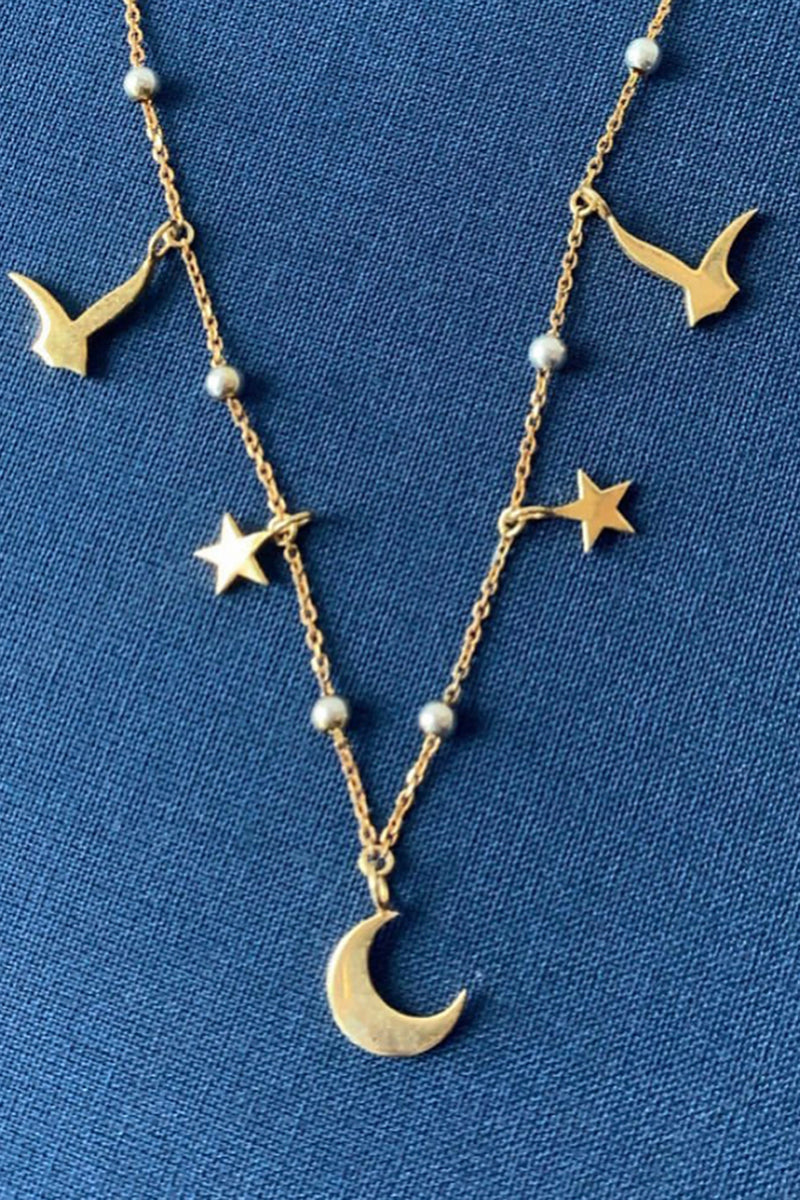 The Starry Night gold necklace