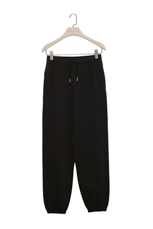Black  Baggy Sweatpants with Elastic Cuffs
