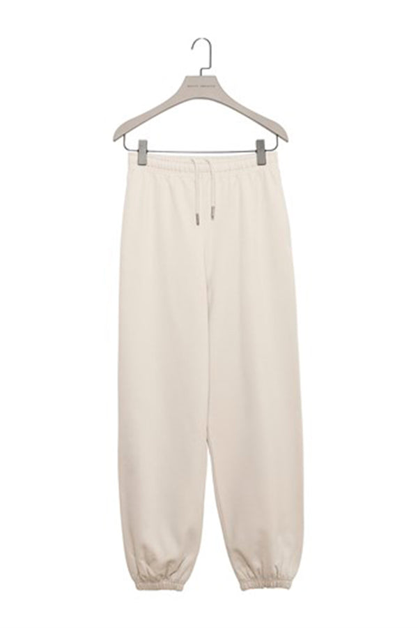 Nude  Baggy Sweatpants with Elastic Cuffs