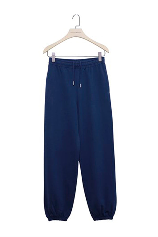 Navy Blue Baggy Sweatpants with Elastic Cuffs