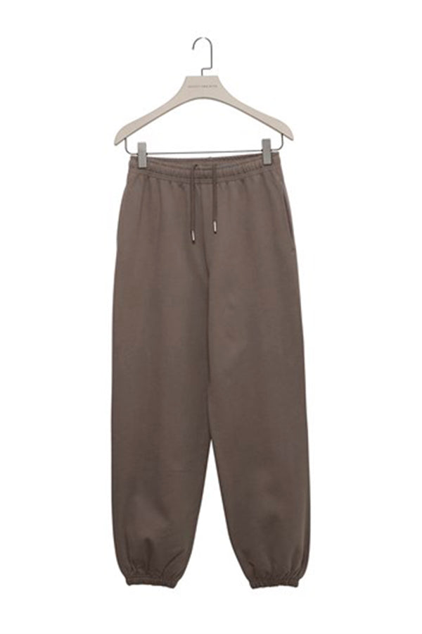 Mink Baggy Sweatpants with Elastic Cuffs
