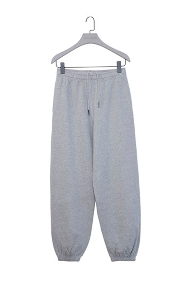 Grey Baggy Sweatpants with Elastic Cuffs