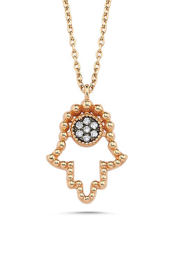 Large Hamsa Necklace - Maison Orient